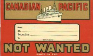 "Don Vipond ""Not wanted on the voyage"""